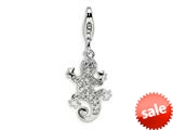 Amore LaVita™ Sterling Silver CZ Lizard w/Lobster Clasp Bracelet Charm style: QCC383