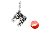 Amore LaVita™ Sterling Silver 3-D Enameled Arc De Triomphe w/Lobster Clasp Bracelet Charm style: QCC447