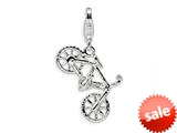 Amore LaVita™ Sterling Silver Polished Bicycle w/Lobster Clasp Bracelet Charm style: QCC486