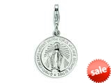 Amore LaVita™ Sterling Silver Miraculous Medal w/Lobster Clasp Bracelet Charm style: QCC496