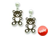 Sterling Silver Teddy Bear Resin Earrings style: QE5664