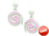 Sterling Silver Pink Snake Resin Earrings style: QE5668