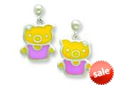 Sterling Silver Pig Resin Earrings style: QE5670