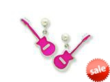 Sterling Silver Guitar Resin Earrings style: QE5674