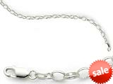 Amore LaVita™ Sterling Silver 5mm Rolo Charm Bracelet style: QFC888