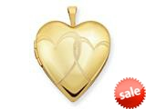 1/20 Gold Filled 20mm Entwined Hearts Heart Locket - Chain Included style: QLS272