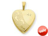 1/20 Gold Filled 16mm Footprints Heart Locket - Chain Included style: QLS288