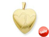1/20 Gold Filled 16mm Entwined Hearts Heart Locket - Chain Included
