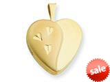 1/20 Gold Filled 16mm Satin and Polished Heart Locket - Chain Included