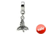 Reflections™ Sterling Silver Holly Leaf Dangle Bead / Charm style: QRS1015
