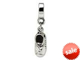 Reflections™ Sterling Silver Baby Shoe Dangle Bead / Charm style: QRS1039