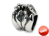 Reflections™ Sterling Silver Big and Little Hands Bead / Charm style: QRS1048
