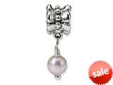 Reflections™ Sterling Silver Pink Cultured Pearl Dangle Bead / Charm style: QRS1102