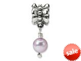 Reflections™ Sterling Silver Grey Cultured Pearl Dangle Bead / Charm style: QRS1104