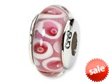 Reflections™ Sterling Silver Pink/Red Murano Glass Bead / Charm style: QRS1105