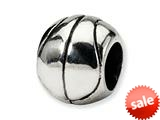 Reflections™ Sterling Silver Basketball Pandora Compatible Bead / Charm style: QRS1155