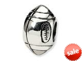 Reflections™ Sterling Silver Football Bead / Charm style: QRS1156