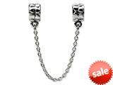 Reflections™ Sterling Silver Security Chain Heart Pandora Compatible Bead / Charm style: QRS121