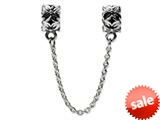 Reflections™ Sterling Silver Security Chain Floral Bead / Charm style: QRS122