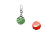 Reflections™ Sterling Silver August Swavorski Crystal Ball Dangle Bead / Charm style: QRS1253AUG