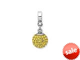 Reflections™ Sterling Silver November Swavorski Crystal Ball Dangle Bead / Charm style: QRS1253NOV