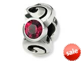 Reflections™ Sterling Silver July Swarovski Crystal Birthstone Bead / Charm