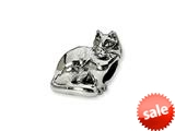 Reflections™ Sterling Silver Ragdoll Cat Bead / Charm style: QRS1279