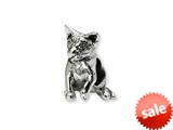 Reflections™ Sterling Silver Abyssinian Cat Bead / Charm style: QRS1282