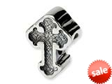 Reflections™ Sterling Silver Celtic Cross Bead / Charm style: QRS1292