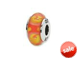 Reflections™ Sterling Silver Red/Yellow Hand-blown Glass Bead / Charm style: QRS1300