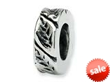 Reflections™ Sterling Silver Leaf Design Spacer Bead / Charm style: QRS134