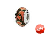 Reflections™ Sterling Silver Red/Orange Hand-blown Glass Bead / Charm style: QRS1354