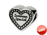 Reflections™ Sterling Silver Someone Special Bead / Charm style: QRS1653