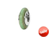 Reflections™ Sterling Silver Green Maganasite Stone Bead / Charm