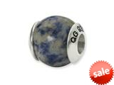 Reflections™ Sterling Silver Sodalite Stone Bead / Charm style: QRS1712