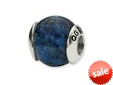 Reflections™ Sterling Silver Lapis Stone Bead / Charm style: QRS1713