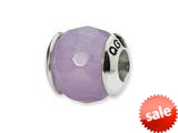 Reflections™ Sterling Silver Lavender Quartz Stone Bead / Charm style: QRS1715