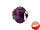 Reflections™ Sterling Silver Purple Magnasite Stone Bead / Charm