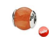 Reflections™ Sterling Silver Pink Calcite Stone Bead / Charm style: QRS1720