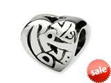 Reflections™ Sterling Silver True Love Bead / Charm style: QRS198