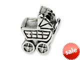 Reflections™ Sterling Silver Baby Carriage Bead / Charm style: QRS211