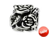 Reflections™ Sterling Silver Rose Floral Bead / Charm style: QRS228