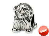 Reflections™ Sterling Silver Sitting Puppy Bead / Charm style: QRS256