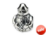Reflections™ Sterling Silver Snowman Bead / Charm style: QRS296