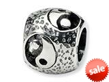 Reflections™ Sterling Silver Yin Yang Bead / Charm style: QRS316