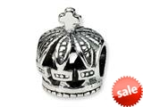 Reflections™ Sterling Silver Crown Bead / Charm style: QRS326