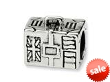 Reflections™ Sterling Silver Suitcase Bead / Charm style: QRS334