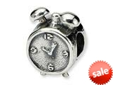 Reflections™ Sterling Silver Alarm Clock Bead / Charm style: QRS345