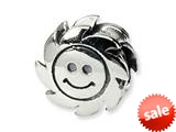 Reflections™ Sterling Silver Smiling Sun Bead / Charm style: QRS356