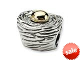 Reflections™ Sterling Silver and 14k Birds Nest Bead / Charm
